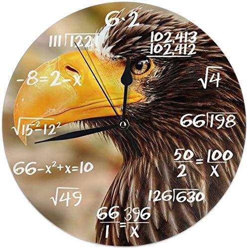 shotngwu Wanduhr Giant Eagle Dekorative Wanduhr Silent Non Ticking - 9.8Inch Round Leicht zu Dekorativ für Zuhause/Büro/Schuluhr zu lesen