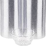 Clear Plastic Dessert Cups with Floral Design, Disposable Party Cups for Dessert, Ice Cream Sundae, Candy, Salsa - Small Serving Bowls, 6 Ounce, 200 Count