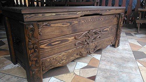 Decocraft Boîte à couverture en bois pour table basse Style vintage CZ2