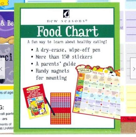 Health Shopping Preciashopping Kids Healthy Eating Dry Erase Reward Chart w/Parents Guide, Pen, Smiley