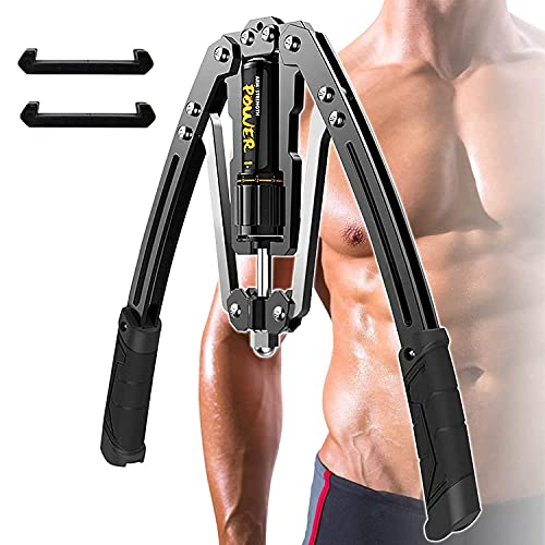 Jinsihou Adjustable Resistance 20-200kg Hydraulic Power Twister Bar Exerciser Expander For Arm, Biceps, Abdominal, Shoulder Chest Muscle Upper Body Strength Fitness Man Woman Home Gym office Training