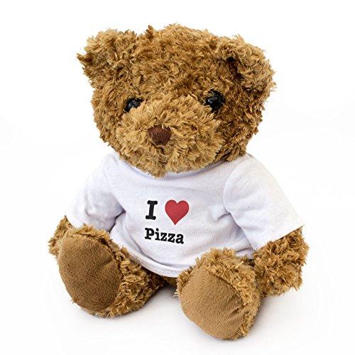 London Teddy Bears Teddybär I Love Pizza – niedlich und kuschelig – Geschenk zum Geburtstag, Weihnachten