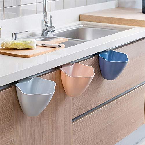 QiHaoHeji afdruiprek, keukenkast, deur voor het ophangen van vuilnisemmer, vuilnisemmer, lichtblauw