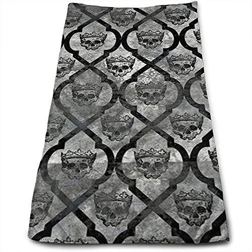 Toallas de Mano Silver Crown Skull Absorbent Quick-Dry Towels 30cmx70cm
