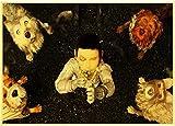 GUONA Cartel Retro Artístico De La Isla De Los Perros, Decoración del Hogar, Pintura Artística, Resistente Al Agua Y Duradera, HD 50 * 70 Cm, Lienzo Sin Marco, Póster