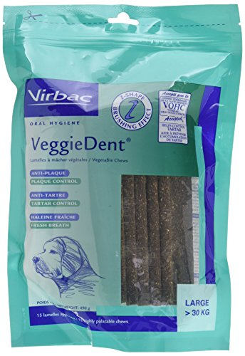 Virbac 3597133065275 VeggieDent L Limpiador Dental para Perros Mayores de 30 kg