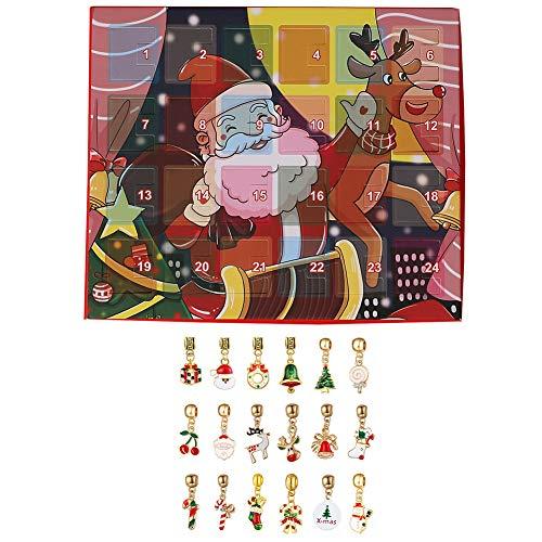 JIESD-Z Kerstkalender voor kinderen, DIY Sieraden Ketting Kalender Countdown tot Kerstmis 22 Mode Armband Maken Set voor Meisjes, Jongens
