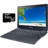 2020 Samsung 11.6 inch Chromebook Laptop, Intel Celeron N3060 up to 2.48 GHz, 4GB LPDDR3 RAM, 64GB eMMC, Bluetooth, Webcam, HDMI, Chrome OS + NexiGo 32GB MicroSD Card Bundle
