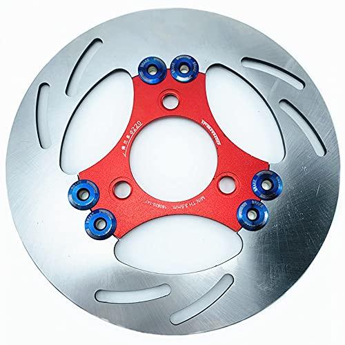 Kaxceay Universal 3 Hoyos 220mm * Disco de Freno de Disco Flotante de la Motocicleta de 220 mm para H-Onda Y-AMAHA R-SZ J-OG F-orce S-Cooter Trasero y Delantero modifican Rotor (Color : Rojo)