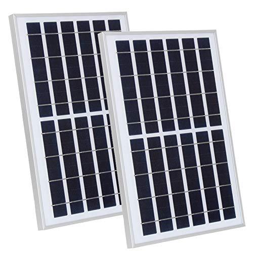 YYANG Solarpanel Glaslaminiertes Solarpanel Solarladekarte Montage Haushalt Polykristalline 10W