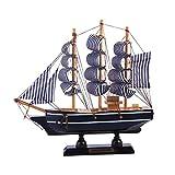 VOSAREA Maqueta de Barcos de Madera Adorno de velero mediterráneo artesanía de Madera...
