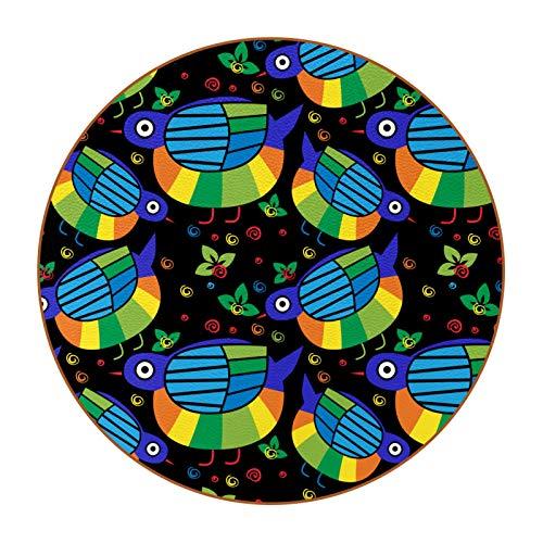 Juego de 6 posavasos de diseño único para posavasos de mesa con posavasos antideslizantes en la parte trasera de la taza de regalo, lindo pájaro