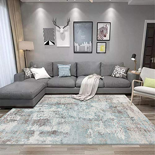 WQ-BBB Dosen'T Shed non-slip rug living room Simple abstract design Modern Style Rugs grey white blue super luxurious Carpets 160X230cm