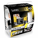 LUNEX H3 SUPER YELLOW Bombillas halógenas Faros Antiniebla Amarillas 453 12V 55W PK22s 2300K duobox (2 units)