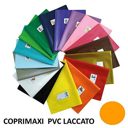 Copertina per quaderni maxi PVC Laccato ARANCIO con segnalibro da 180 micron coprimaxi