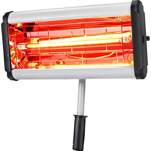 OldFe Elektro Infrarot Heizstrahler 220V, Stand Heizstrahler Infrarot 1000 W, Infrarotstrahler Standgerät 15 kg, Wärmestrahler Terrassenstrahler Fernbedienung handgerät häufig im Autolackierraum