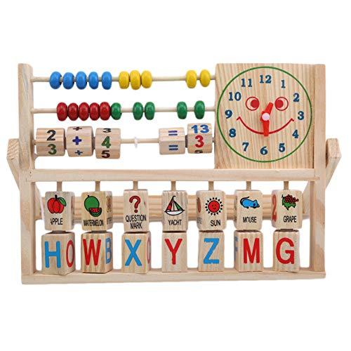 Hengxing Reloj de Cara Sonriente, Juguete de cálculo, Aprendizaje Preescolar, Juguete Educativo, Juego de Cerebro para Contar