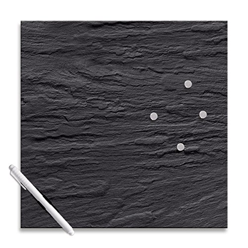 Eurographics MB-DT6393 Memo Board, Magnet- und Schreibtafel aus Glas 30 x 30 cm, Black Slate