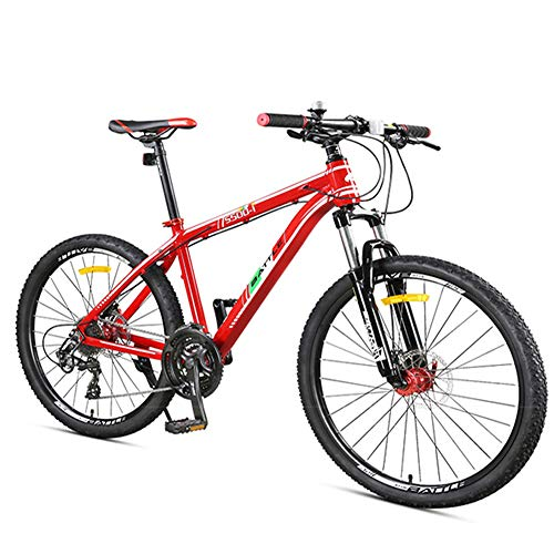 NENGGE 27-Speed Mountainbike, Voorwielophanging Hardtail Mountainbike, Volwassen Vrouwen Heren Alle Terrein Fiets met Dual Disc Remmen