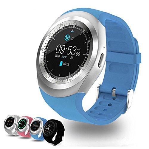 Smart Watch Y1 Bluetooth 3.0 Smart Watch HD IPS rond touchscreen horloge telefoonhouder simkaart en TF-kaart ontgrendelt mobiele telefoon horloge met 3,9 cm smartwatch slaapbewaking