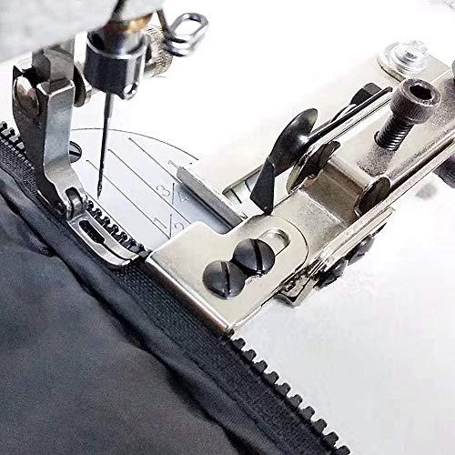Guía de cierre ajustable + pie de cremallera para máquina de coser industrial Juki Ddl-8500 8700 Brother