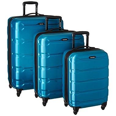 Samsonite 68311-2479 Omni PC Hardside Spinner  20 24 28,  Caribbean Blue,  3 Piece Set