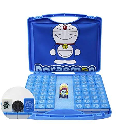 Yoyogi Protable Mini Mahjong, Viajes Mah Jong, Juegos de fichas, 144 fichas Chinas Tradicionales Juegos de Mahjong con la Caja, tamaño portátil y Ligero, 30MM