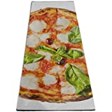 YYRR Estera de yoga Extra Large Exercise Mat Archetype Thincrust Pizza Pie Pizza Margherita Personalized Printing ThickNon-Slip Anti-Tear High Density Lightweight with Carrying Strap Storage Po