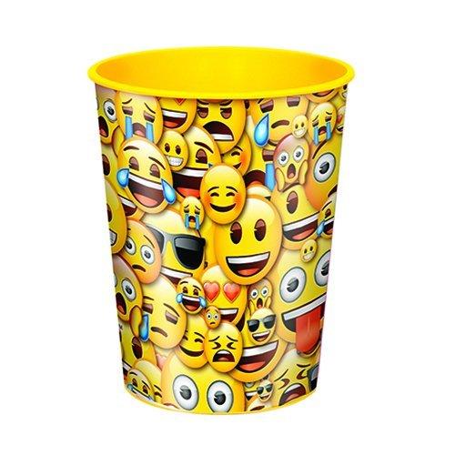 Unique Party 50602 2,13 m x 1.37 m große Kunststoff-Tischdecke mit Emoji-Motiv