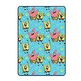 Franco Kids Bedding Super Soft Plush Throw Blanket, 62 in x 90 in, Spongebob Squarepants