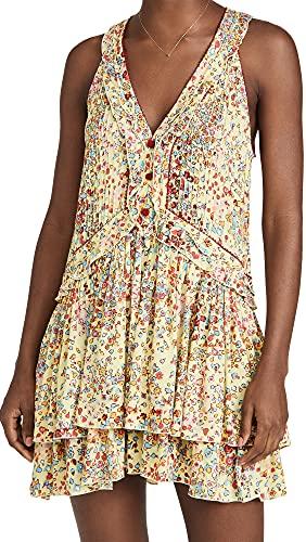 Poupette St Barth Women's Mae Mini Dress, Yellow Murrina, Small