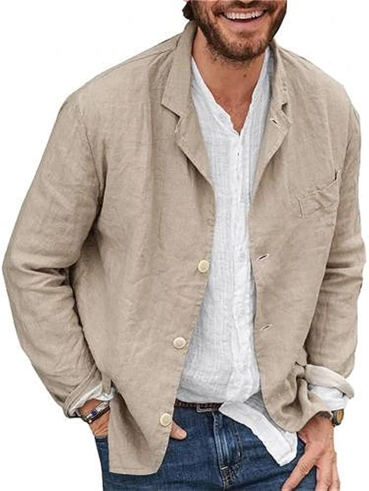 Men Autumn Casual Color Long Sleeve Single-breasted Work Men's Blazer Coat