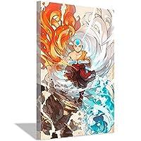 アバターラストエアベンダーポスターアニメ壁画壁画ギフト40x60cm(16x24inch)内枠壁画1