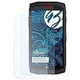 Bruni Schutzfolie kompatibel mit Crosscall Trekker X3 Folie, glasklare Bildschirmschutzfolie (2X)