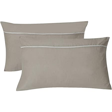 Linen pillow shams  Soft and stonewashed pure flax  Set of 2  dusty mint orand cream white