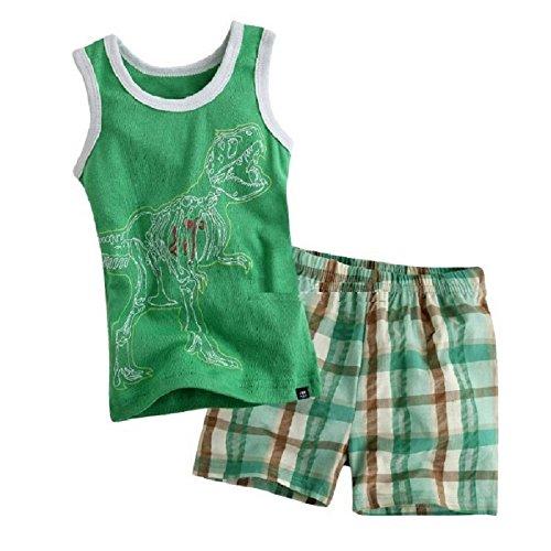 Hooyi - Ensemble de pyjama - Bébé (garçon) 0 à 24 mois Vert Green - Vert - XXL