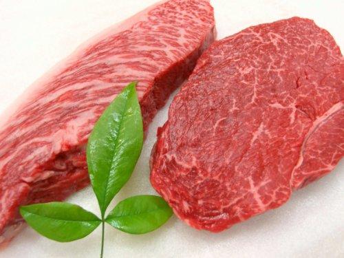 厳選 黒毛和牛 牝牛限定 あっさり 赤身モモ ステーキ と 霜降り イチボステーキ セット 2枚