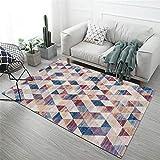 Alfombras Oficinas morado Alfombra de salón alfombra suave con patrón de triángulo pequeño borroso púrpura antideslizante Alfombras De Dormitorio Matrimonio Los 200X300CM Alfombra Juegos 6ft 6.7''X9ft