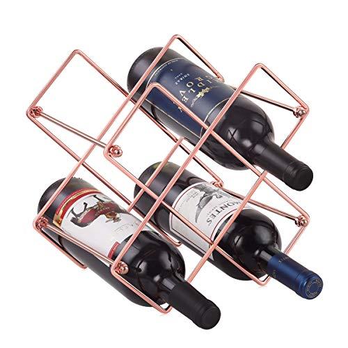 Buruis Countertop Wine Rack - 6 Bottle Wine Holder for Red White Wine Storage -...