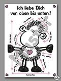 Sheepworld - 50433 - Postkarte, Schaf, Nr. 25, Ich Liebe Dich von oben bis unten, Pappe