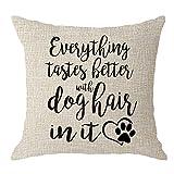 Mesllings Hunde-Liebhaber, Mütter, Geschenk, Herzpfotenabdrucke, Alles schmeckt Besser mit...