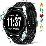 NASUM Fitness Watches, Reloj Inteligente, Frecuencia Cardíaca y Monitoreo del Sueño, Podómetro, Cálculo del Consumo de Calorías, Recepción de SMS, IP67 a Prueba de Agua y Polvo, para Android e iOS