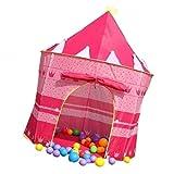 Gazechimp Kinderzelt Indoor-Outdoor-Spielhaus mit Pop-up Mädchen Junge Schloss Zelt Bällebad, Muliti-Funktion für Baby Spielzeug, Wunderbares Geschenk - Rosa