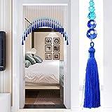 GuoWei-Cortinas de Cuentas Vaso Cristal Perlas Borla Colgantes Moderno Puerta Divisor de Habitación Decoración Personalizable (Color : A, Tamaño : 55 strands-190x120cm)