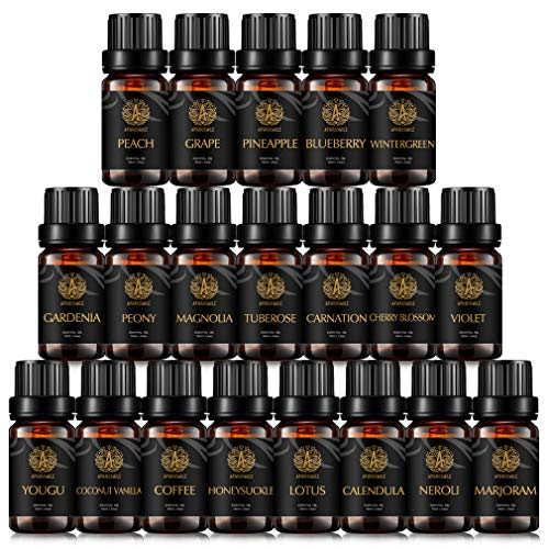 Great Deal! Organic Neroli Essential Oil Set for Diffuser, Aromatherapy Lotus Essential Oil Kit for ...