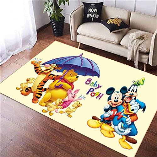Misszhang Carpet Area Rug Printed Floor Mats Cartoon Mickey Mouse Not-Slip Soft Floor Mat Home Decor Rugs (A2820) 80X150Cm