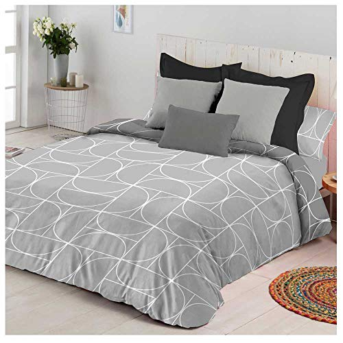 COTTON ARTean Funda Nordica Maison Cama de 105. Color Gris