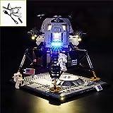 QJXF Juego De Luces USB Compatible con Lego Creator Experto De La NASA Apolo 11 Lunar Lander 10266, LED Light Kit para (NASA Apolo Módulo Lunar) De Bloques De Creación De Modelos (No Incluido Modelo)