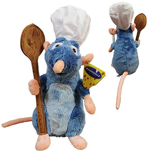 Disney Ratatouille - Remy Plüsch mit Kochmütze und Löffel 33 cm Superweiche Qualität