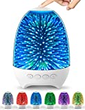 Aiscool Night Light Bluetooth Speaker, 3D Glass Touch Control Bedside Table Lamp 7-Color LED Portable Wireless Speakers, Rechargeable Table Lamp, Best Gift for Adult, Teens, Kids, Boys and Girls